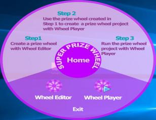 Super Prize Wheel main screen