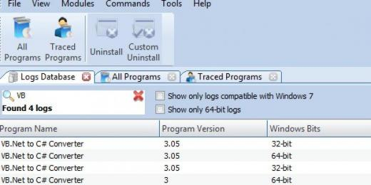 Find VB.Net to C# Converter in Logs Database List