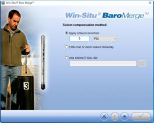 Win-Situ Baro Merge main screen