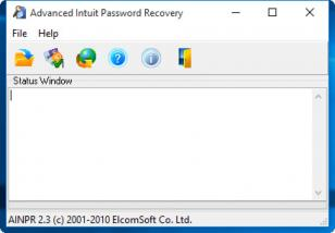 Advanced Intuit Password Recovery main screen