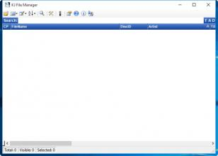 KJ File Manager main screen