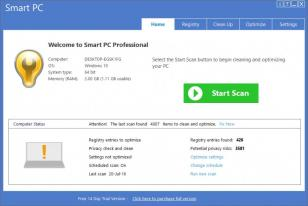 Smart PC Professional main screen