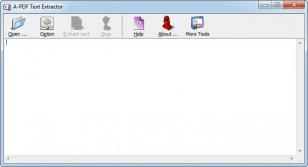 A-PDF Text Extractor main screen