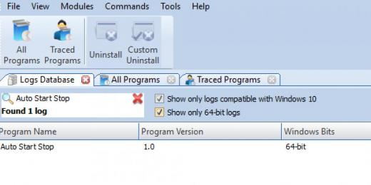 Find Auto Start Stop in Logs Database List