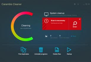 Carambis Cleaner main screen
