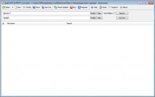 Batch PPTX to PPT Converter main screen