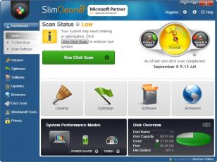 SlimCleaner Plus main screen