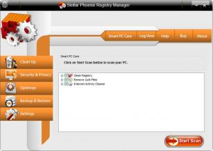 Stellar Phoenix Registry Manager main screen