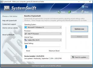 SystemSwift main screen