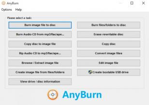 AnyBurn main screen