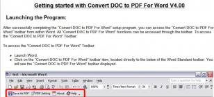 Convert DOC to PDF For Word main screen