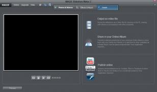 MAGIX Slideshow Maker main screen