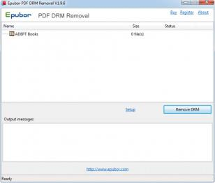 Epubor PDF DRM Removal main screen
