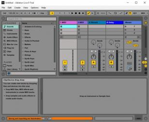 Ableton Live main screen