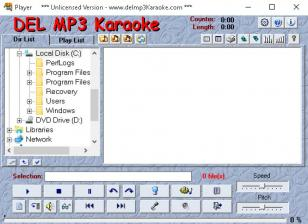 Del Mp3 Karaoke main screen