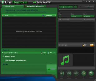 DrmRemoval main screen