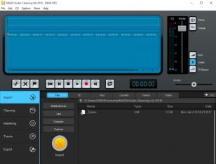 MAGIX Audio Cleaning Lab 2016 main screen