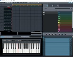 MAGIX Music Maker Premium main screen