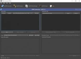 Autodesk FBX Converter main screen