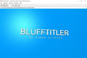 BluffTitler Pro main screen