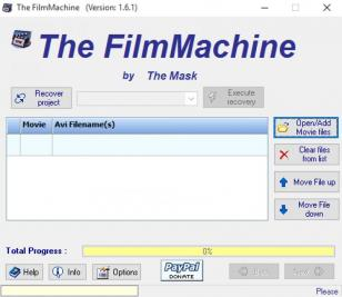 The FilmMachine main screen