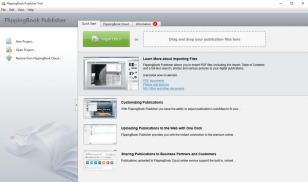 FlippingBook Publisher main screen