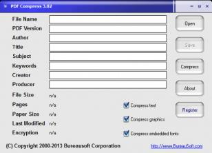 PDF Compress main screen