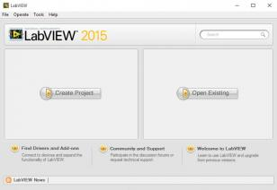 LabVIEW 2015 main screen
