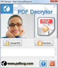 PDF Decrypt main screen