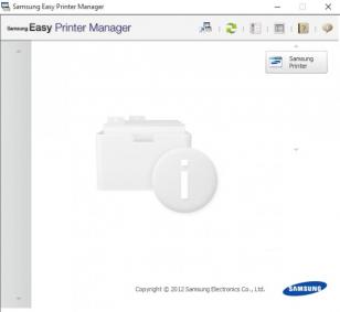 Samsung Easy Printer Manager main screen