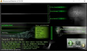 xParanormal Detector main screen
