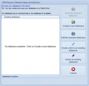 CRM-Express Professional main screen