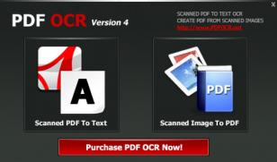 PDF OCR main screen