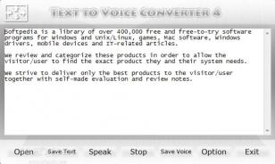 Text to Voice Converter main screen