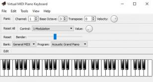 Virtual MIDI Piano Keyboard main screen