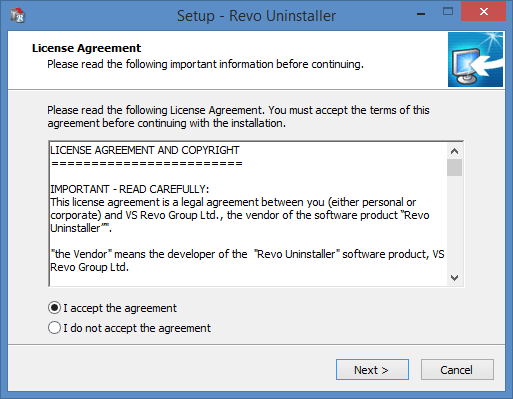 setup revo uninstaller window