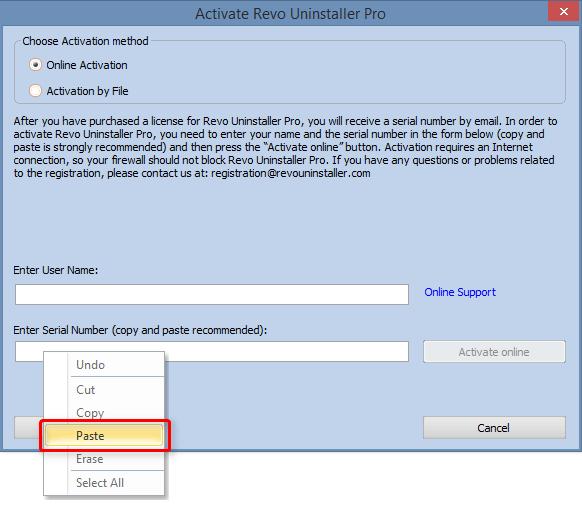 activate revo uninstaller pro window
