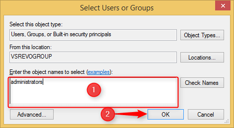 select users or group window