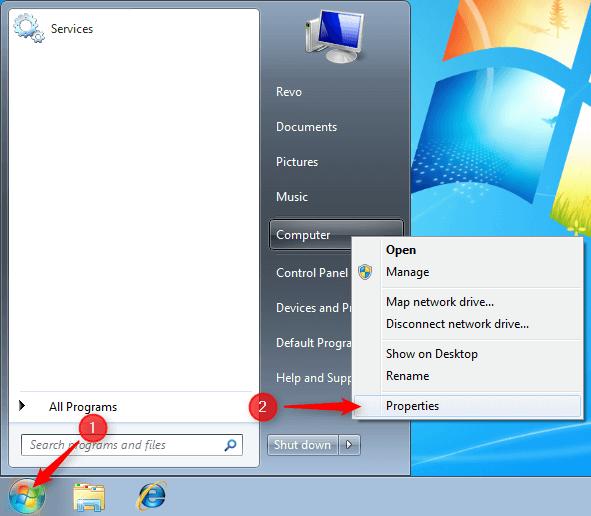 start menu window