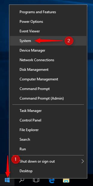 Start button menu screen