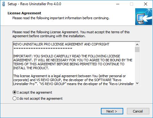 setup revo uninstaller pro window