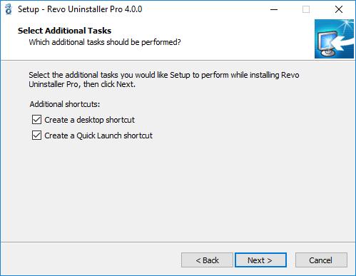 select additional tasks window